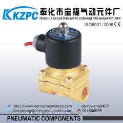 brass electric water shut off 2 way solenoid valve for water oil gas