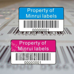 China Minrui Wholesale Security Asset ID Labels Tags Printing Serial Number Company Logo and Barcode