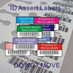 Customized Asset Identification Labels of Different Color Security Code Stickers Printing Company ID