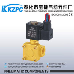 Small size solenoid control water inlet valve
