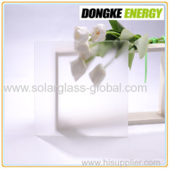 3.2mm low iron super white tempered coating glass