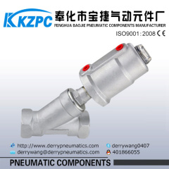 stainless steel pneumatic control piston 2 way solenoid valve DN25