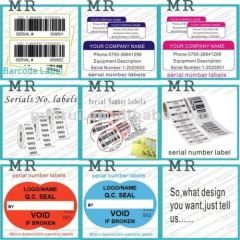 Customized Superior Quality Ultra Destructible Fixed Asset Labels Sticker Use for Property Identification