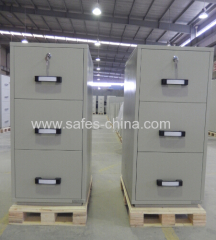 mechanical Fireproof file cabinet 3 drawer -office supplier