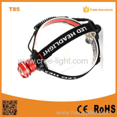 T85 XML T6 LED High power campinging headlight Rechargeable LED Headlamp