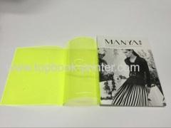 透明PVCジャケットに160#コート紙カバーsoftbackパンフレット印刷