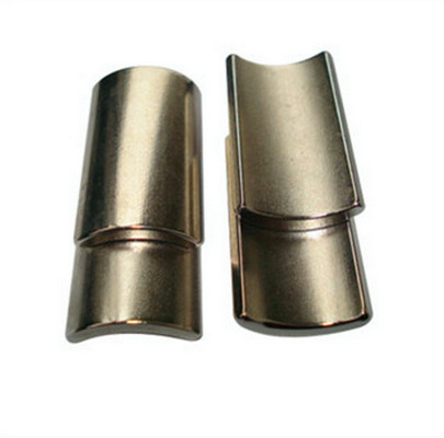 Rare Earth N38 Arc Shape Neodymium Magnets For Motor