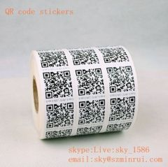 Minrui Wholesale High Quality Kinds of Security QR Asset Tags Tamper Safety Labels with QR Code