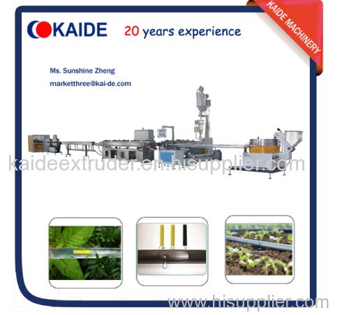 Flat dripper irrigation tape production line KAIDE 180m/min