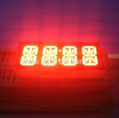 """Costume comum super-vermelho ânodo de 4 dígitos 0,39 """"14 segmento de exibição para o painel de instrumentos LED"""