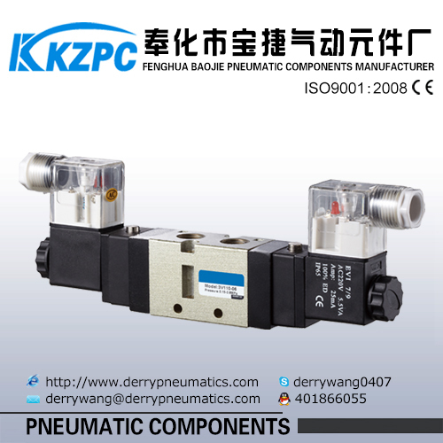 3 way Double Head Coil Pneumatic Solenoid Valve 3V220-08