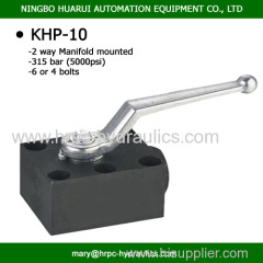 2-way hydraulic valves for manifold mounting with 6 bolts DN10