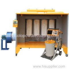 manual electrostatic powder paint booth