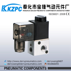air pneumatic 3 way solenoid valve pneumatic air valve