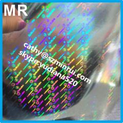 your unique hologram pattern security label destructible vinyl