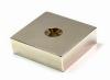 super strong block Sintered neodymium permanent magnets zinc coat