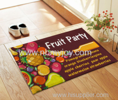 fruit party non-slip bath chaistmas supply welcome rug mat YD201519