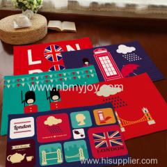 British soldiers carpet anti-slip back Coral velvet gift YD201528