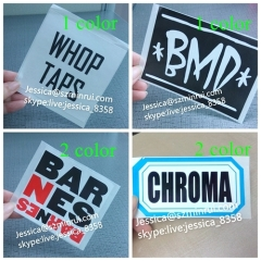 Custom Vinyl Stickers Printing Letters Destructive Vinyl Black Printed Eggshell Sticker For Sale