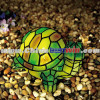 Resin Colorful Mosaic Turtle Solar Light