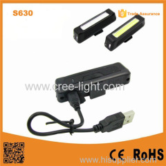 S630 rechargeable USB bike light COB bike tail &front light