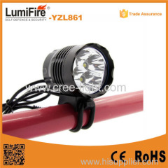 YZL861 Aluminum 4*xml t6 1600 lumen led bike light 4Pieces 18650 Battery Rechargeable bike light