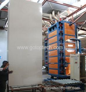 Vertical type sandwich panel EPS block production line