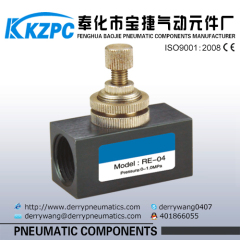 "RE Series 1/2"" one way air Flow Control valve"