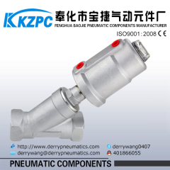 JZF Series pneumatic Stainless Steel Angle seat valve