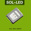 0.2W 2835 SMD LED in Green Light color