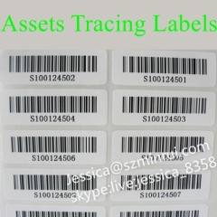 Custom Strong Adhesive Tamper Barcode Security Stickers For Security Property Seal Label Tags Use