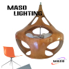 Hot sale Project Indoor Resin Pendant Lamp Maso MS P1047L E27 LED 5w Three Light Source