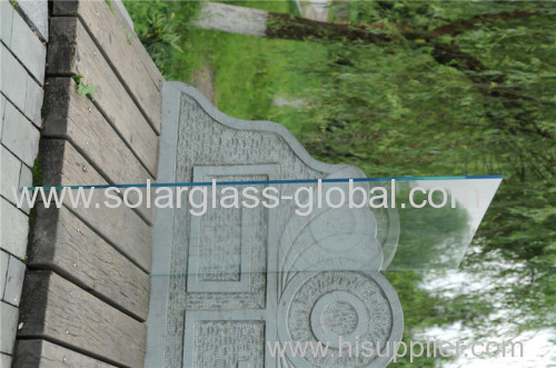 4mm AR coating low iron self cleaning patterned glass