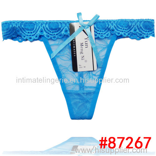 2015 new sheer lace thong pretty lace g-string women sexy t-back underpants stretched lace lady panties hot lingerie