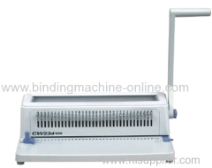 Office manual double wire book binding machine CW234 PLUS