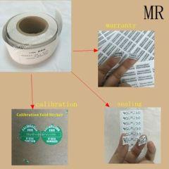 Minrui Permanent Adhesive Ultra Destructible Labels Material Matte White Self Destructible Paper