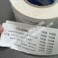 Factory Produce High Quality Destructible Label Papers of Warranty Void Labels Materials Very Fragile Eggshells Paper