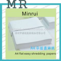 Minrui Blank A4 Self Adhesive Labels Customized Permanent Adhesive Destructive Paper