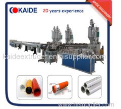 Overlap welding PEX-AL-PEX/PERT-AL-PERT composite pipe production line/ pipe production machine KAIDE