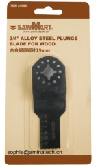 3/4 in. High Carbon Steel Oscillating Multi-Tool Plunge Blade For Wood