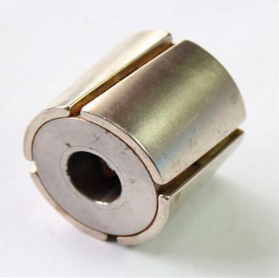 Tile arc shape grade n50 high Br magnetized neodymium motor magnet