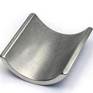 N45sh strong neodymium arc motor magnet in nickel coated