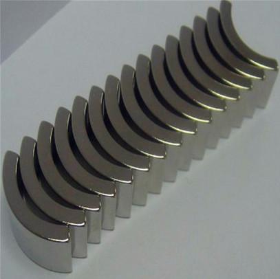 N45H neodymium rare earth arc magnet for motor application