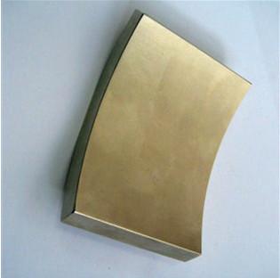 Nickel plating grade n35-n52 large neodymium arc magnet for sale