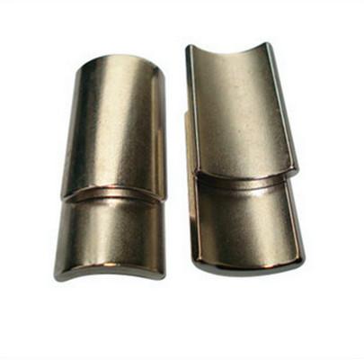 Grade n48 arc neodymium ndfeb magnet in nickel coating