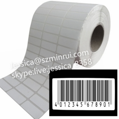 Widely Used Customized Security Tags Printing Bar Code Print Special Number With Strong Adhesive