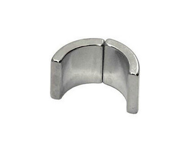 N35 neodym magnet arc shaped with zinc coating applied in motor