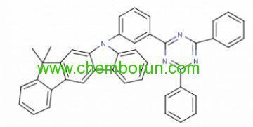 99% 10-[3-(4,6-diphenyl-[1,3,5]triazin-2-yl0-phenyl]-12,12-dimethyl-10,12-dihydro-10-aza-indeno[2,2-b]fluorene