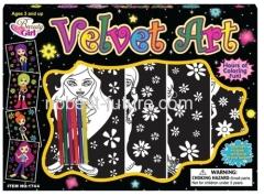 Coloring velvet poster set