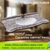 Bathroom furniture ceramic cabinet basin Feather edge basin
